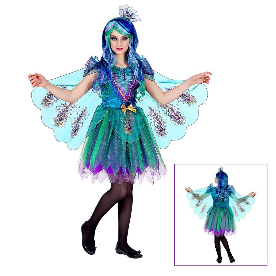 309f549f2def8 Details zu PFAU KOSTÜM KINDER # Karneval Fasching Tier Kleid Flügel  Schleier Mädchen # 0699
