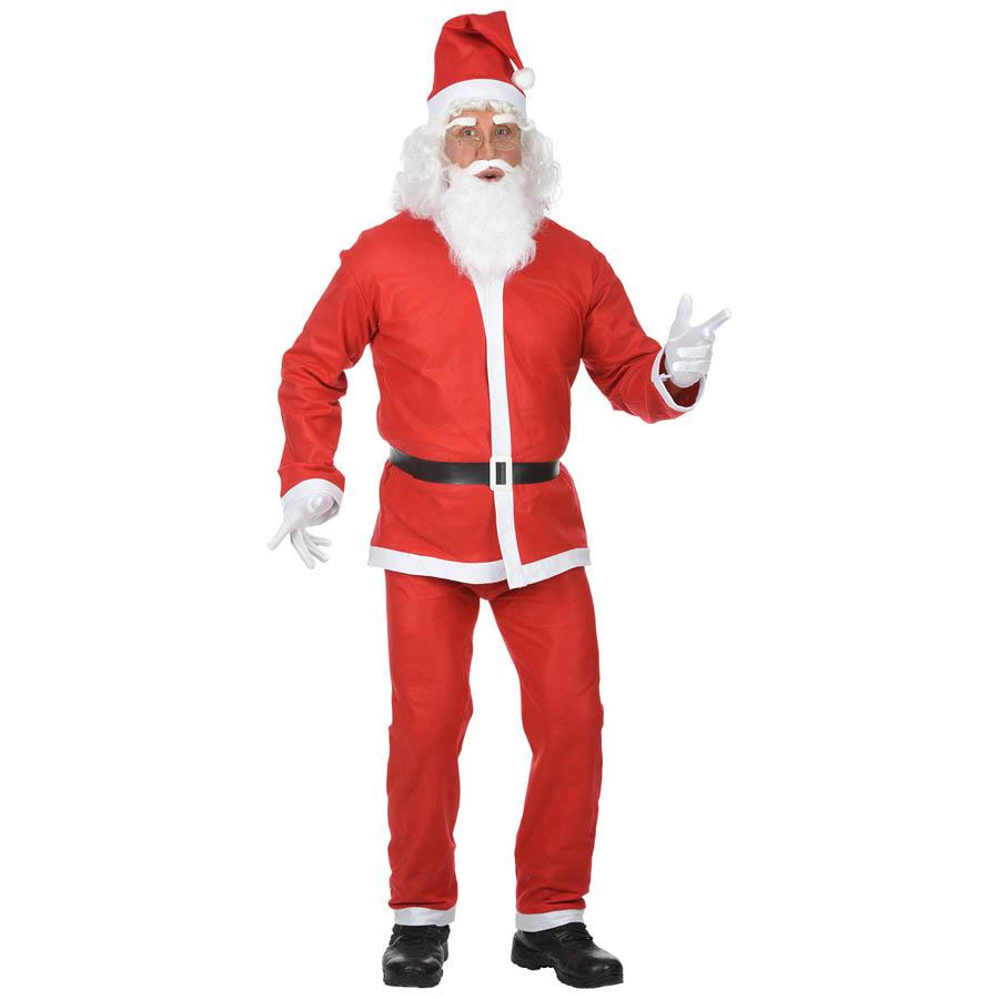 Perücke Bart Nikolaus Weihnachtsmann Weihnachtsmannkostüm Kostüm Fasching