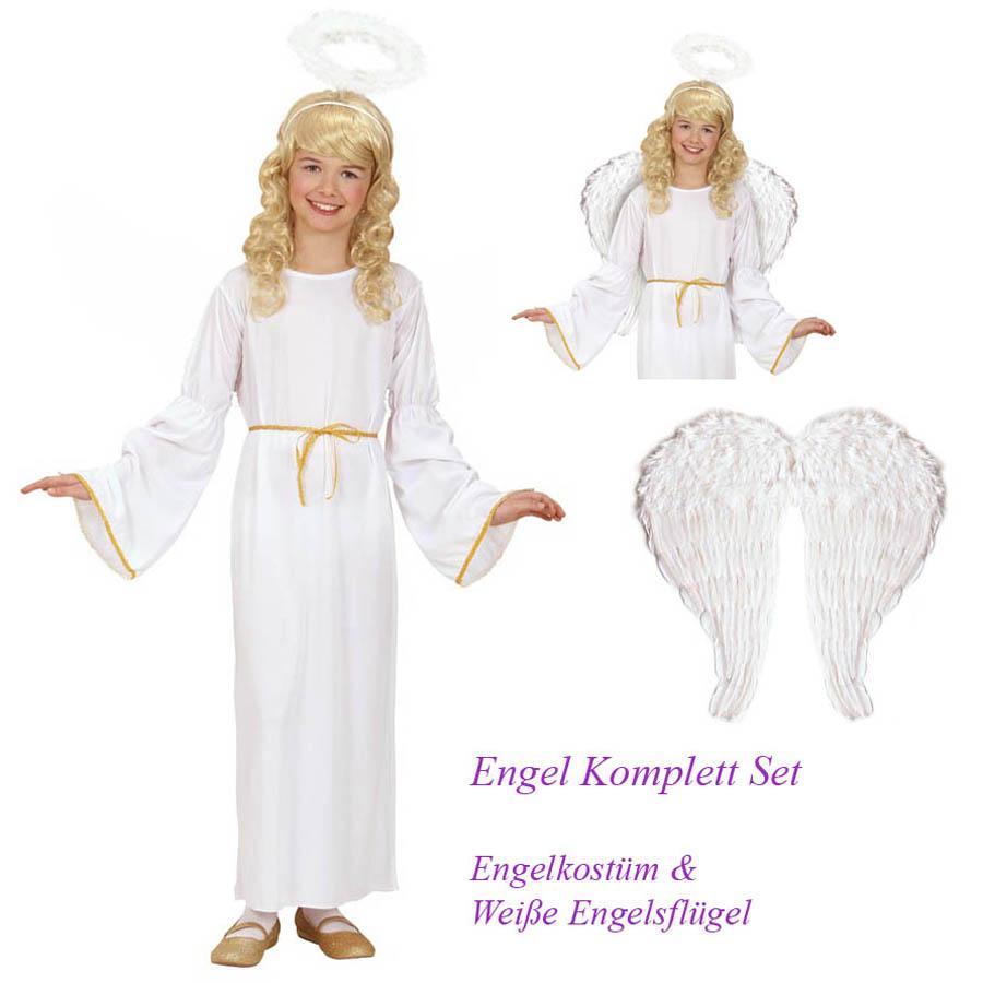 Engel Kostum Flugel Set Kinder Karneval Fasching Weihnachten