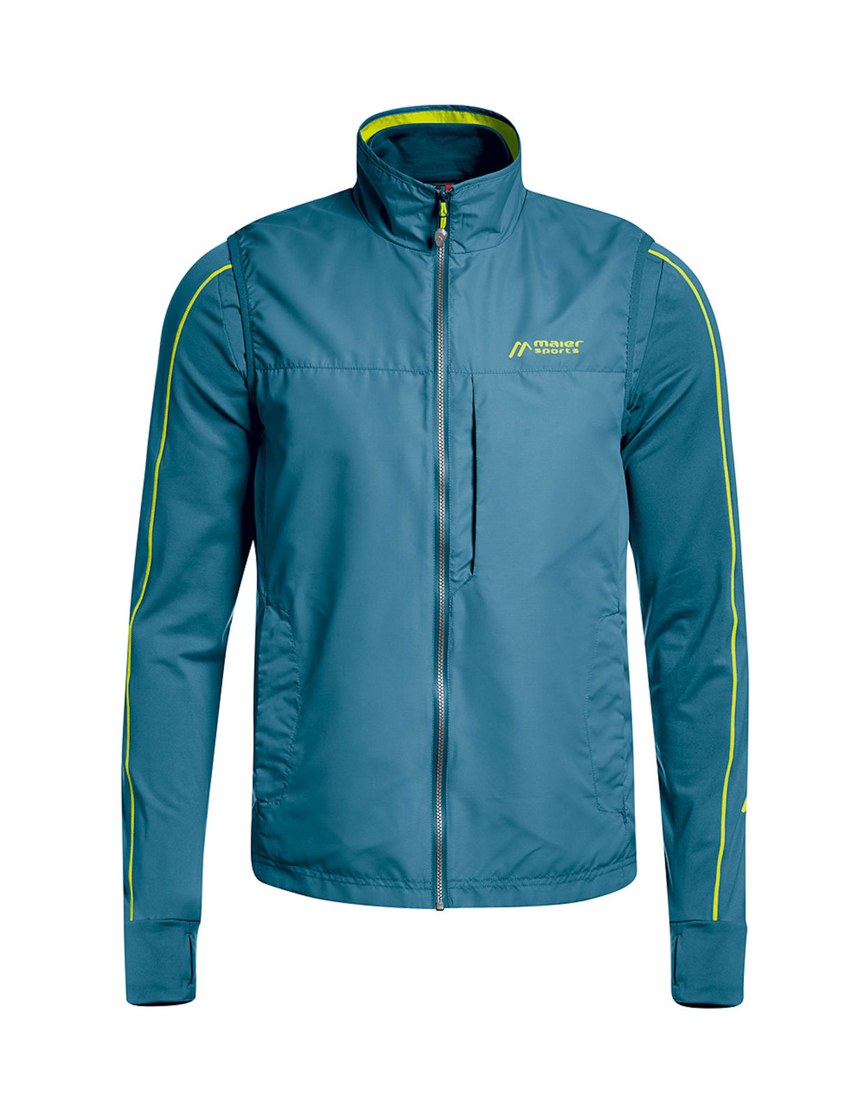 Maier Sports Tour Wind Wendefleecejacke Herren indian teal