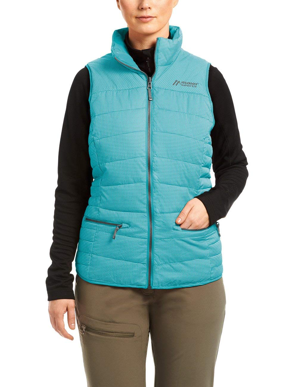 Maier Sports Damen Wendeweste Carpegna peacockblue 50