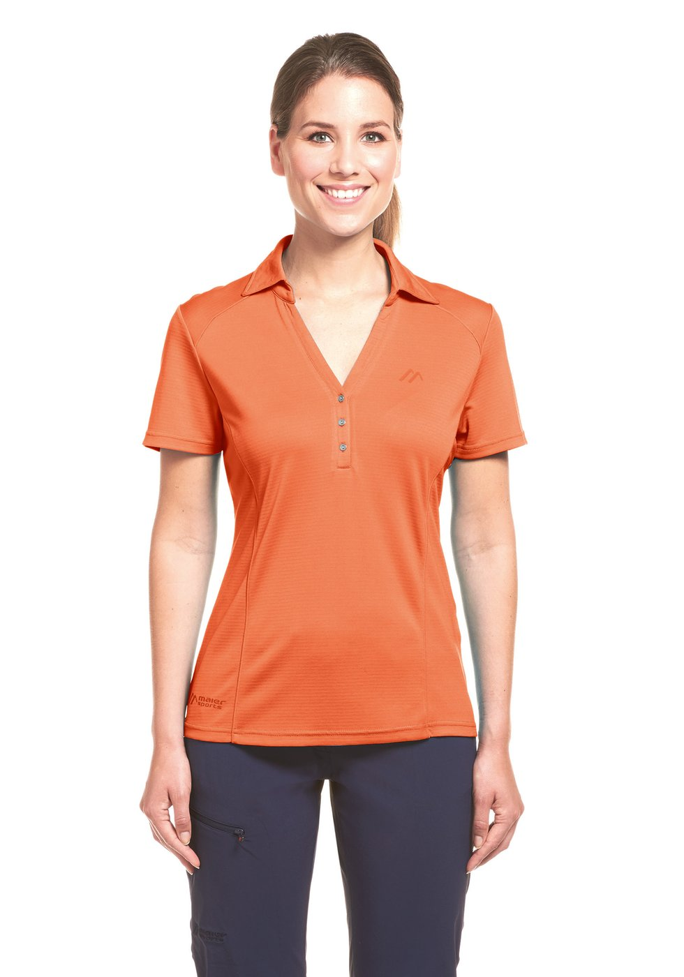 Maier Sports Damen Polo Sydals emberglow 50