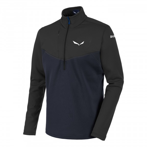 Salewa Herren Ortles PTC Half Zip Midlayer black-out