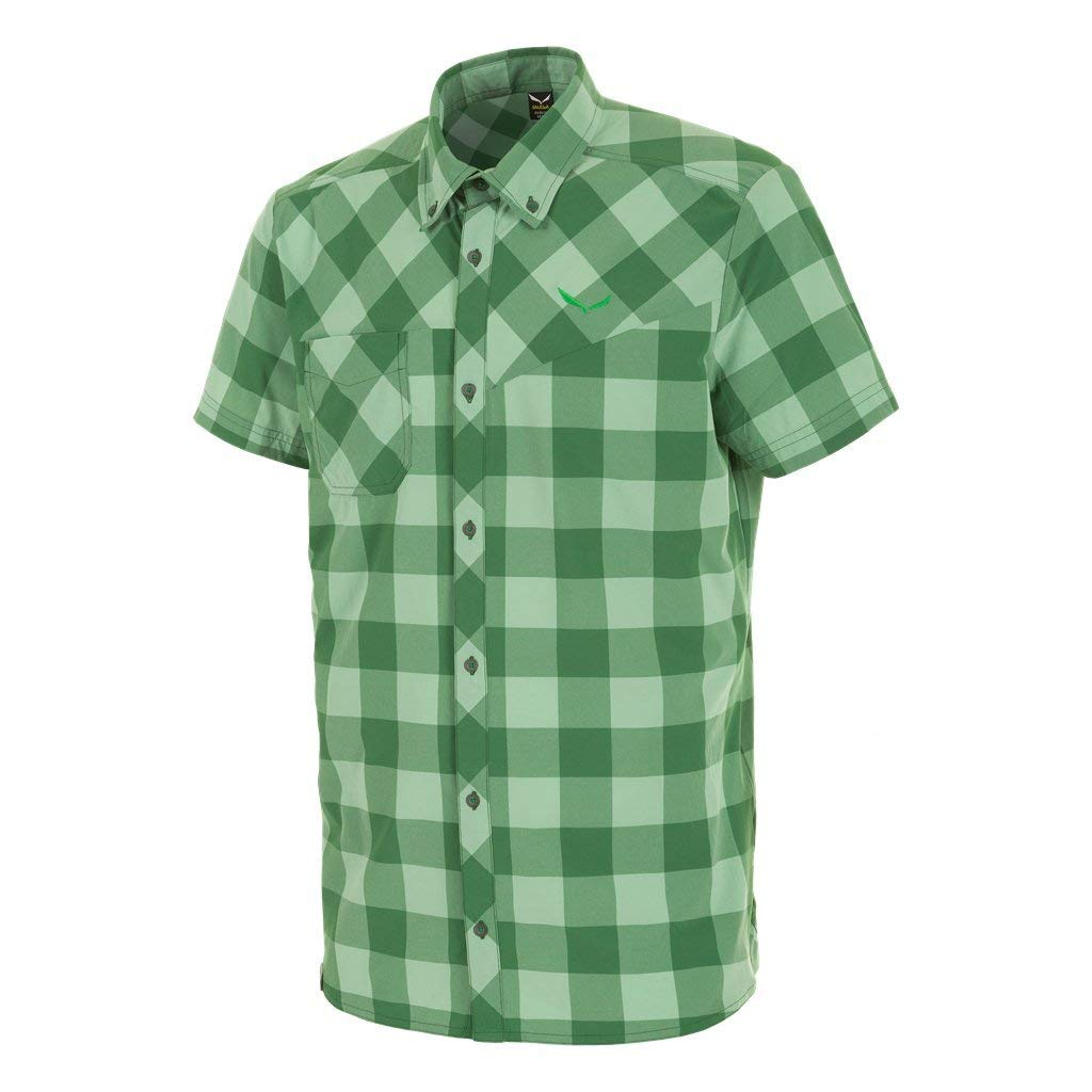 Salewa Puez Dry'ton Short Sleeve Shirt chess-highl-green XXL