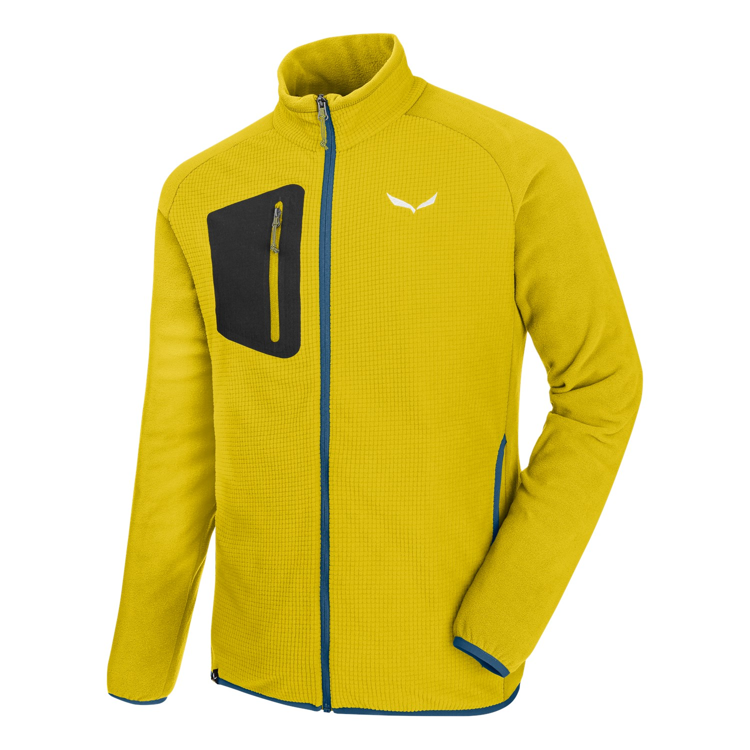 Salewa Puez Plose 4 PL Full-Zip Fleece Jacke Fb. kamille-yellow