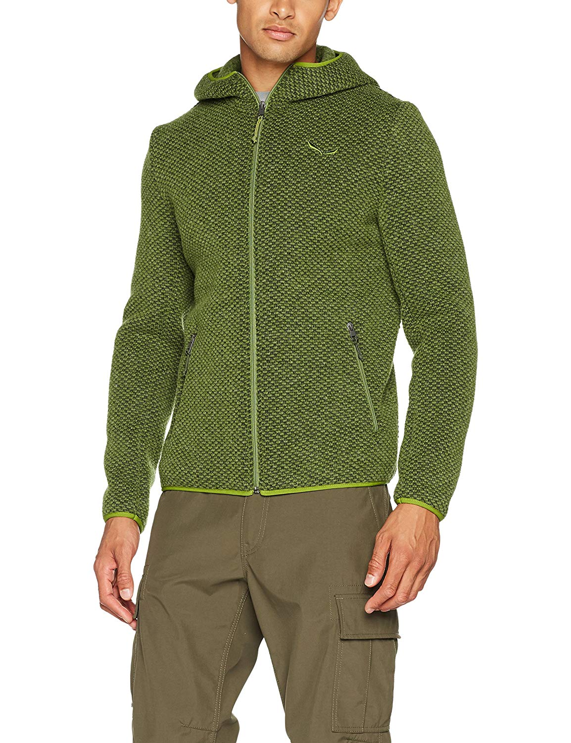 Salewa Herren Wollhoody Kapuzenjacke - oil green -