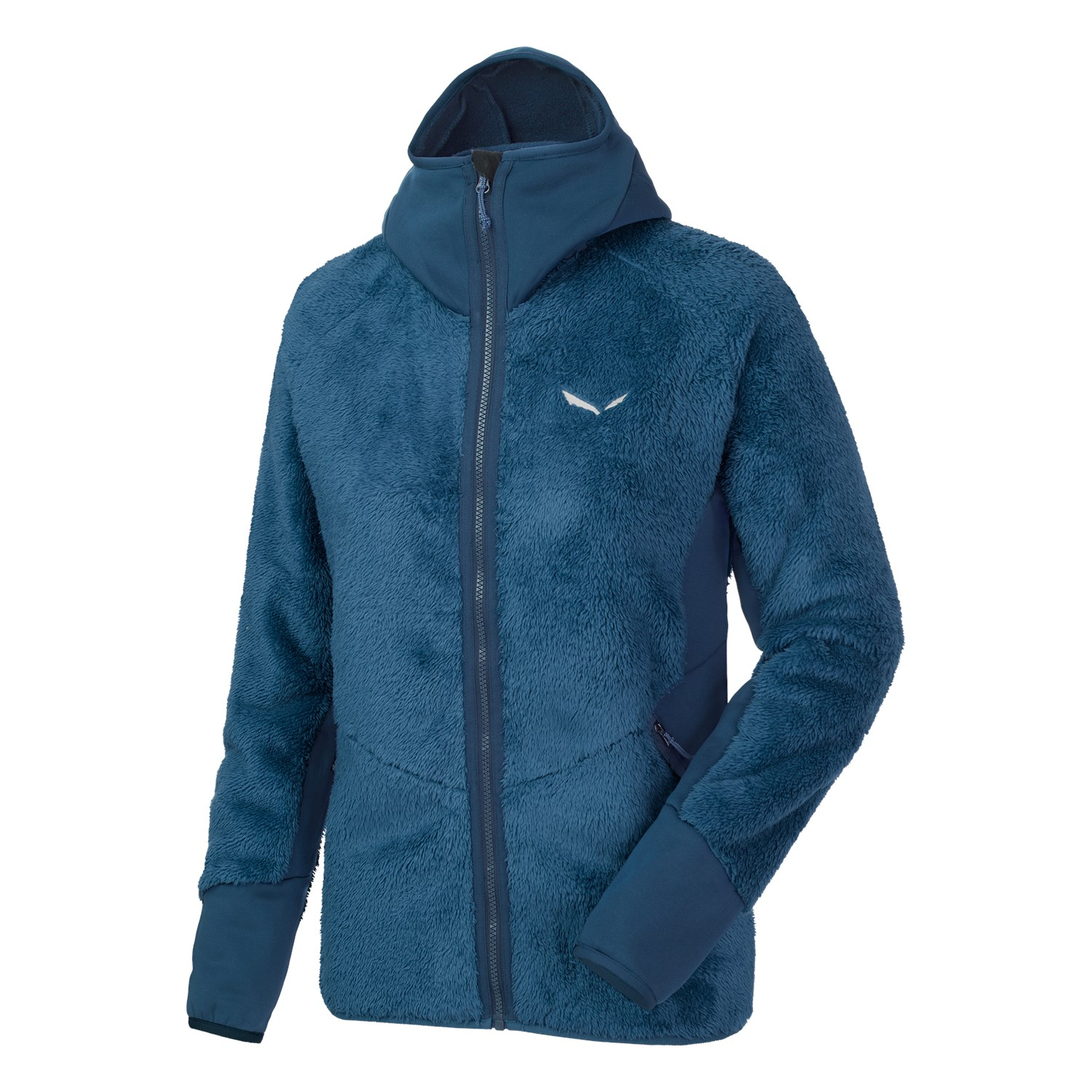 Salewa Damen Puez Warm Polarlite Full-Zip Hoody - blue poseidon - 40
