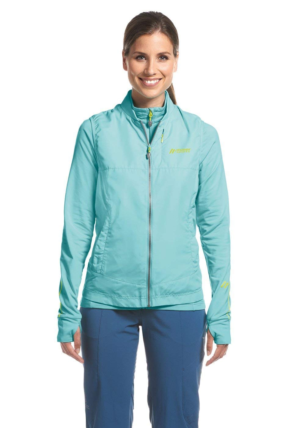 Maier Sports Damen Tour Wind Microfleecejacke + Weste - blue radiance