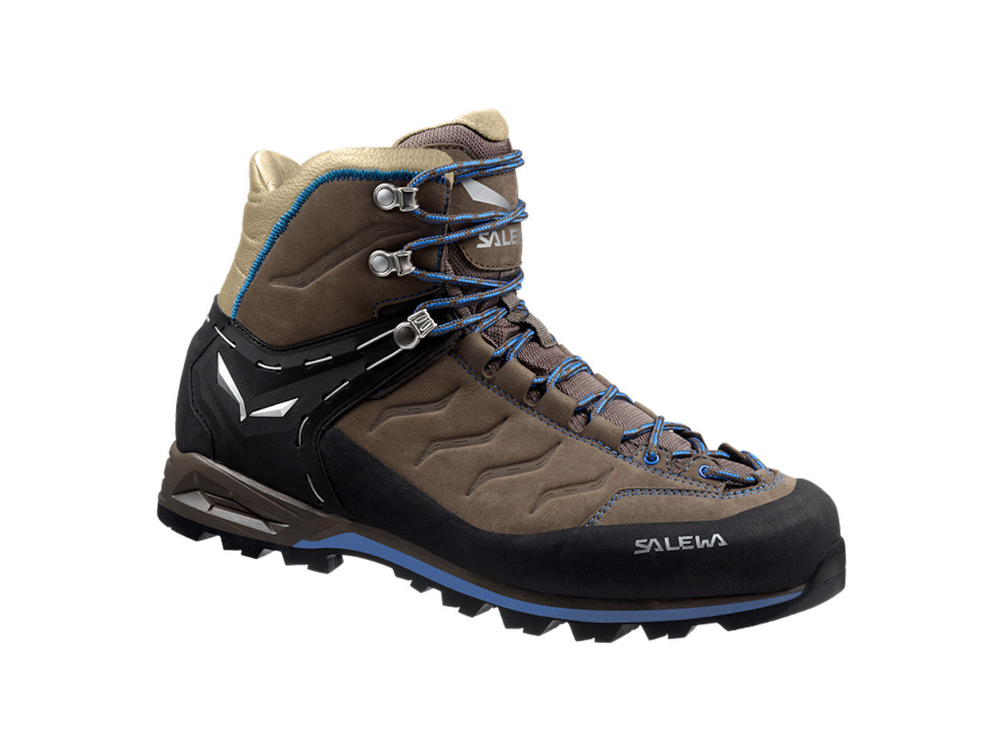 Salewa MTN Trainer Mid L Halbhoher Bergschuh Fb. Walnut/Royal Blue