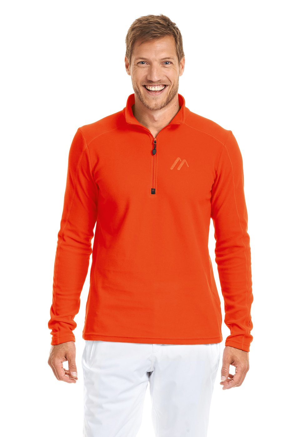 Maier Sports Dennis Herren Midlayer-Fleece spicy-orange