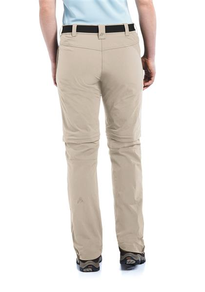Maier Sports Damen Wanderhose Zipp-off Nata – feather gray -