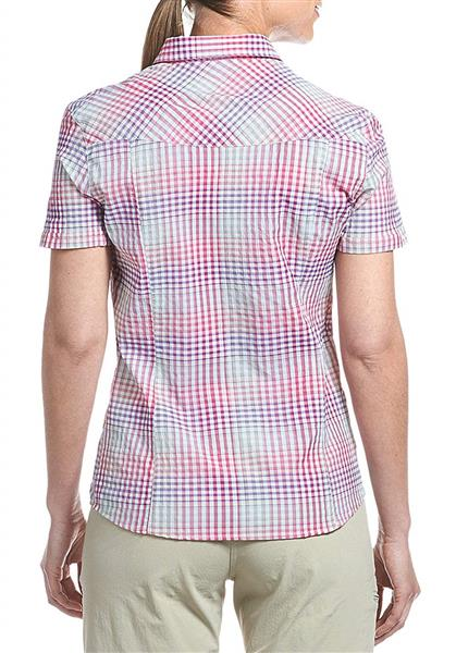 Maier Sports Damen Funktionsbluse Lotta - pink violet check -