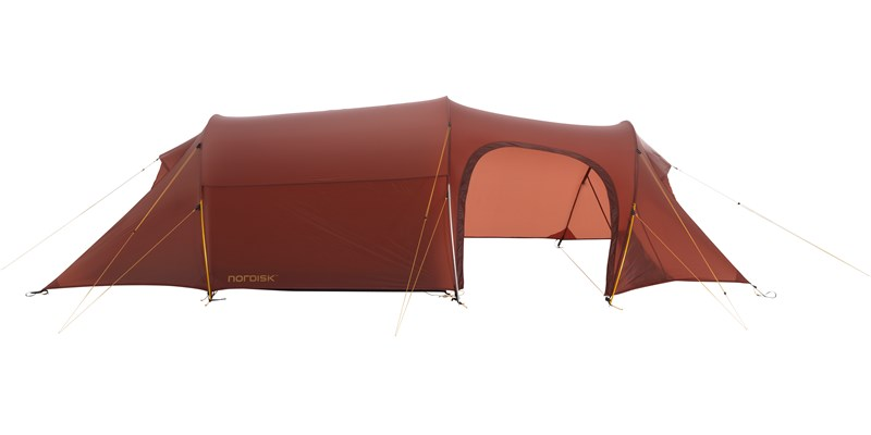 Nordisk Oppland Lightweight 3-Personen Zelt - burnt-red