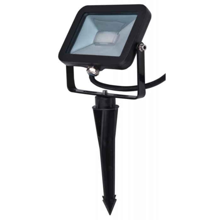 Heitronic Außen LED Flutlichtstrahler Oxford mit Erdspiess 10W