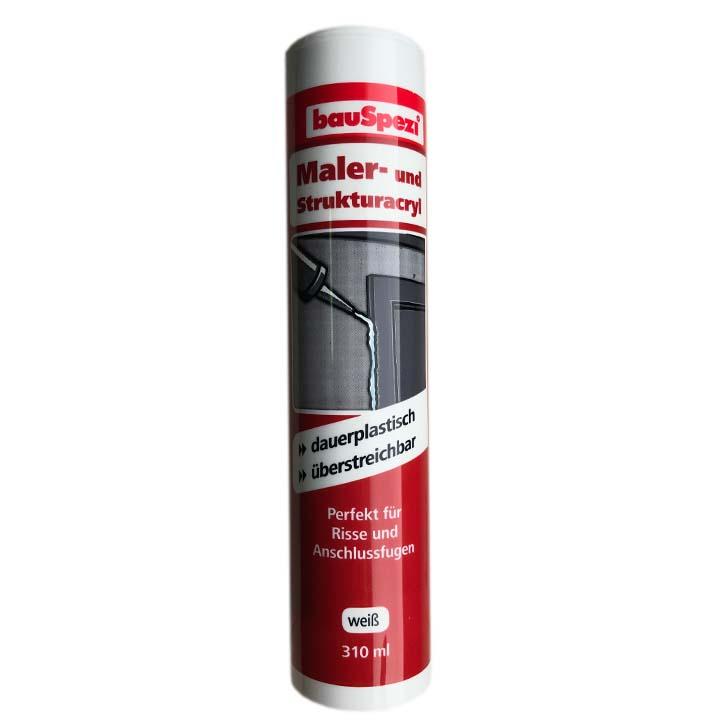 bauSepzi Maler- und Struktur Acryl weiß 310ml