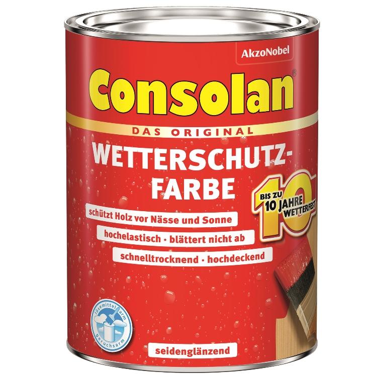 Consolan Wetterschutzfarbe 2,5 L dunkelbraun
