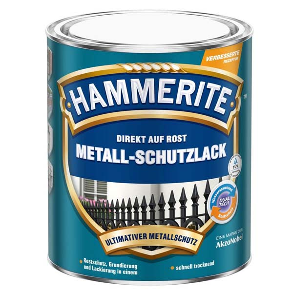 Hammerite Metall Schutzlack Glänzend 0,750 Liter rot Lack Rostschutz