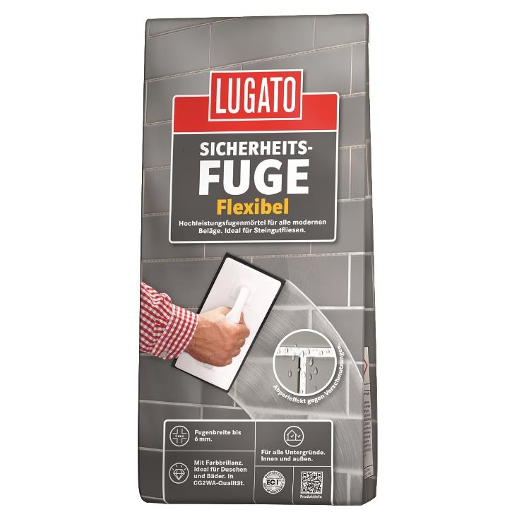 Lugato Sicherheitsfuge flexibel Fugenmörtel 5 kg rehbraun