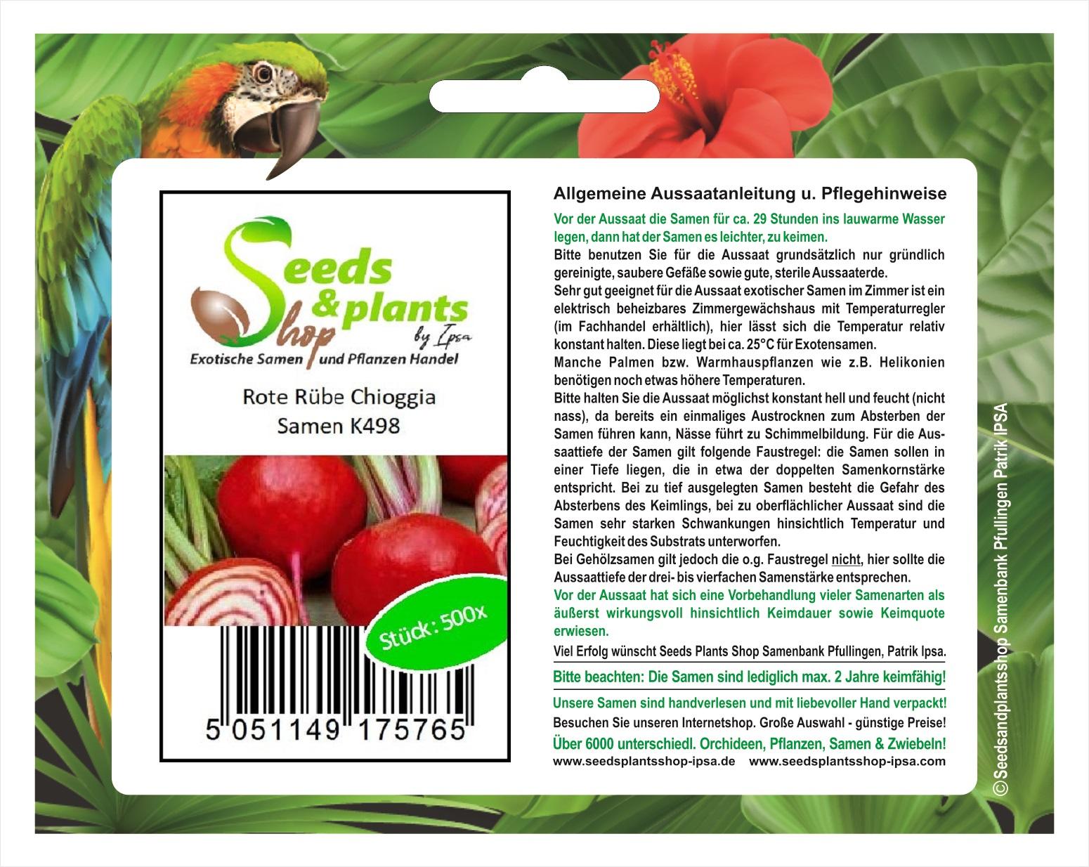 30x Rote Rübe Chioggia-Rüben samen Gemüse KS498