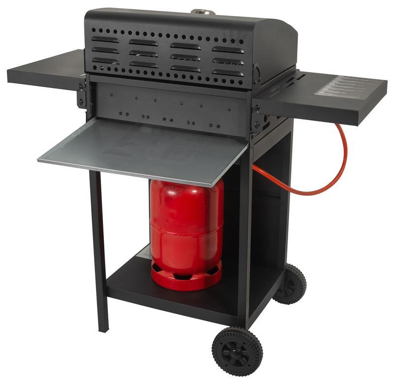 2,7 kW Barbacoa de gas color negro ACTIVA Cabrio 3 quemadores