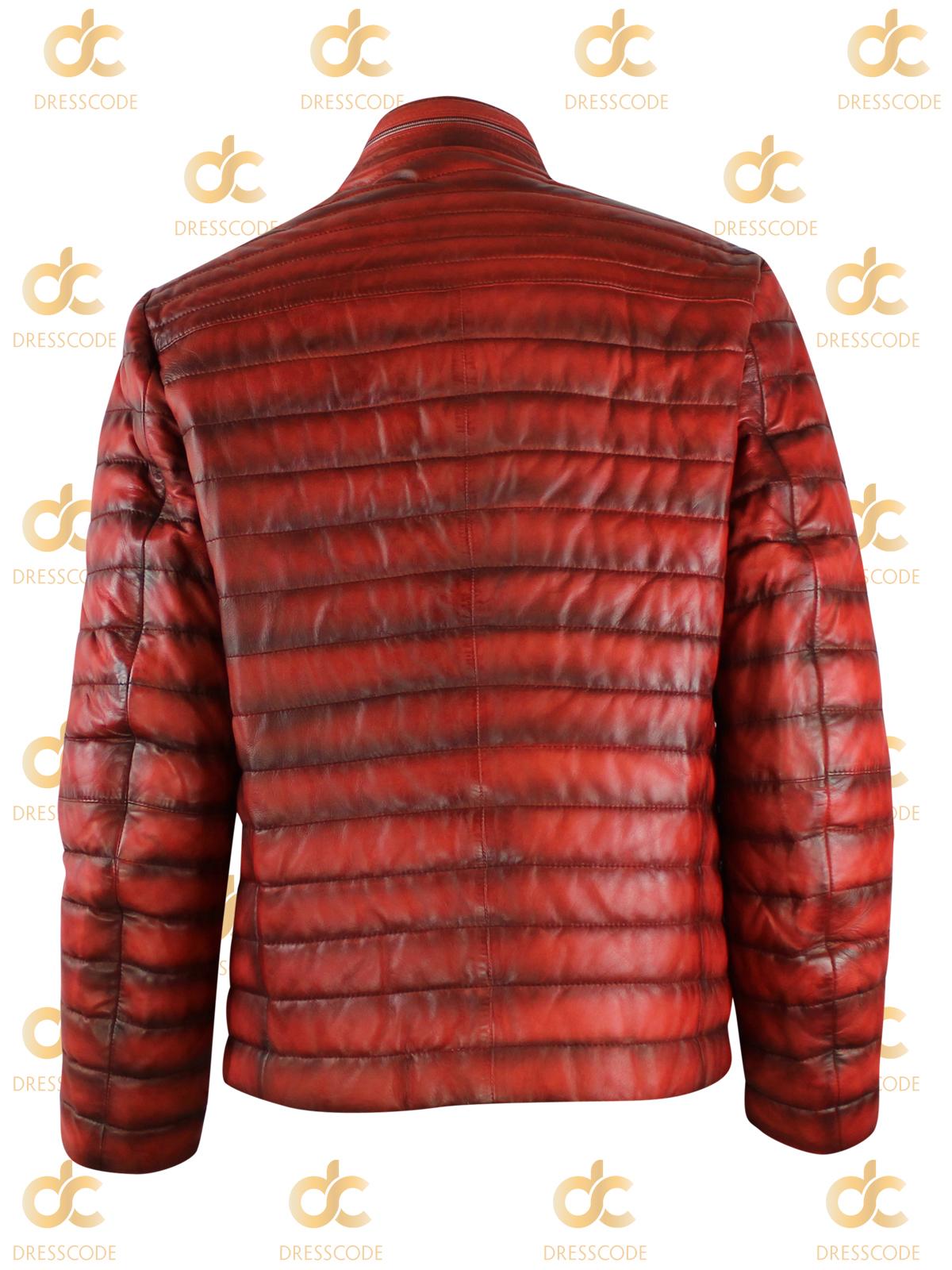 napa título cuero chaqueta acerca Milestone chaqueta Tesino de de transición Detalles acolchada invierno rojo mostrar de señores original nOPkw80X