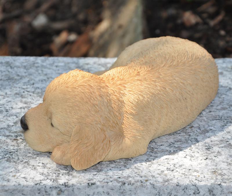 Gartenfigur Gartendeko Tierfigur Skulptur Hund Golden Retriever wetterfest 17 cm