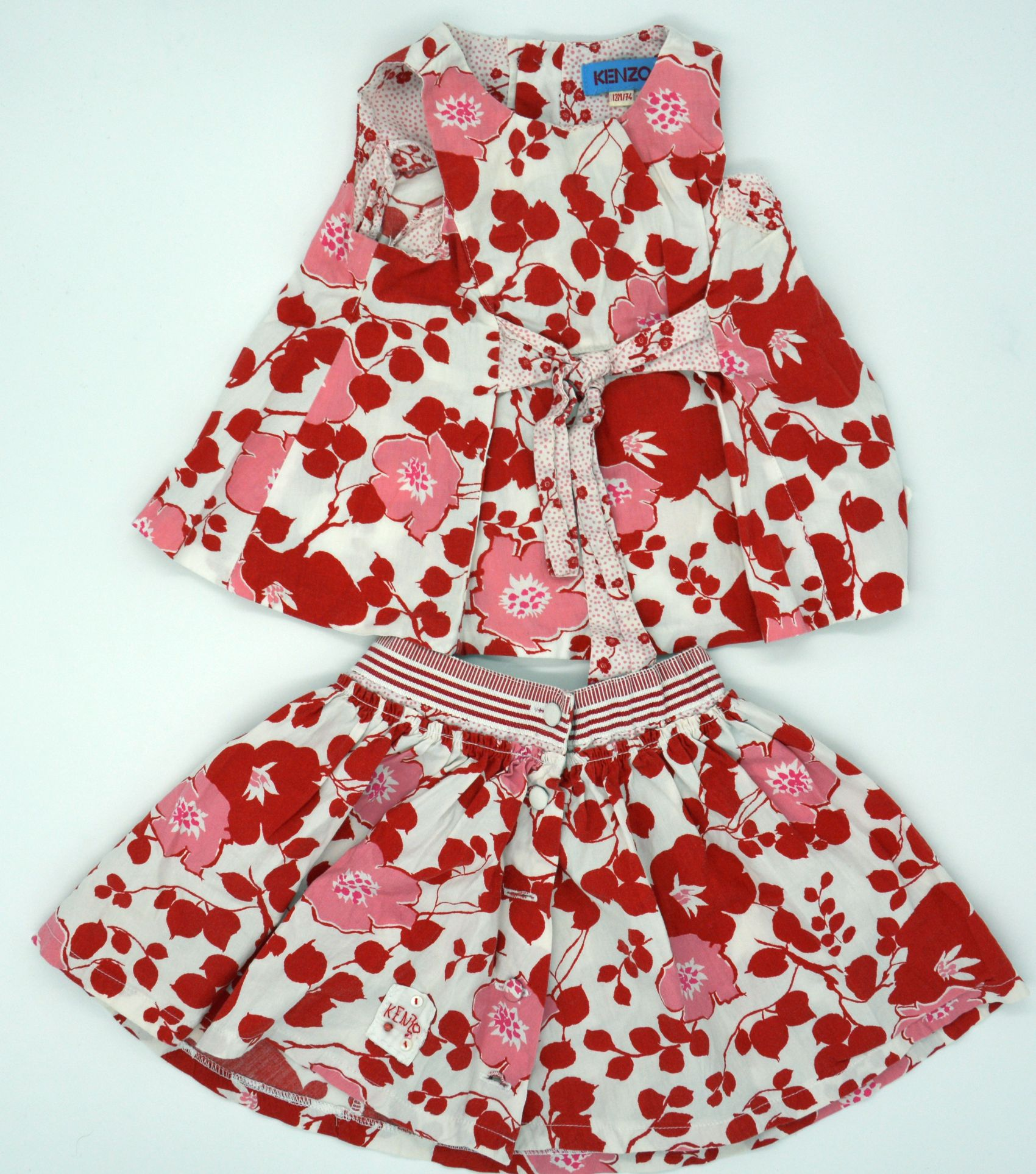 edles original baby designer set rock und kleid von kenzo