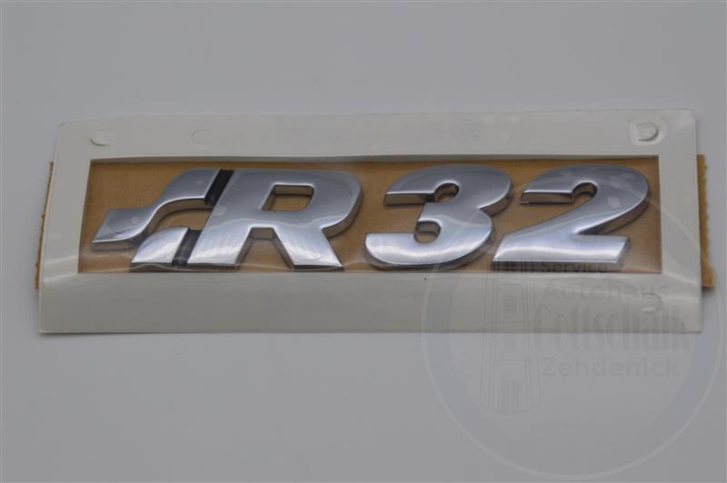 Original Volkswagen VW Golf 4 IV R32 chrom Emblem Logo Schriftzug Heckklappe 1J0853675Q