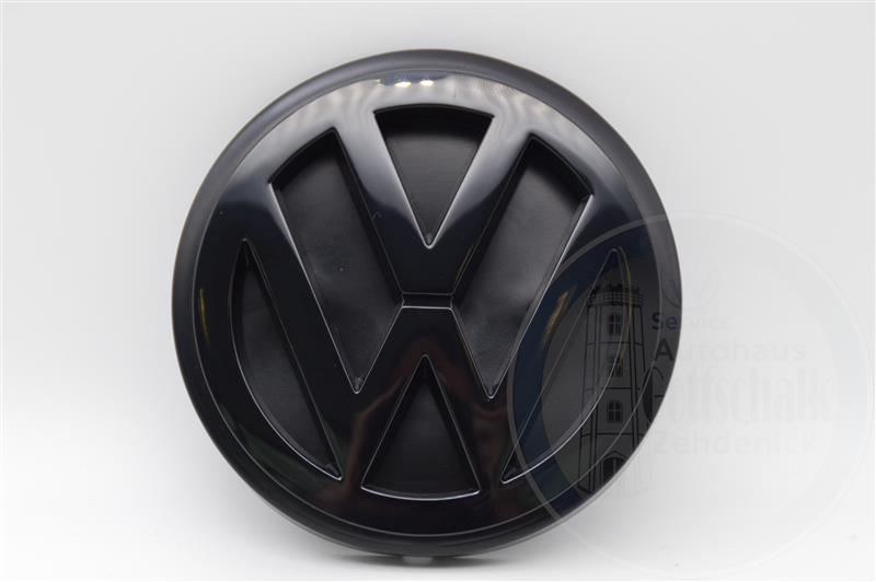 Original VW T4 Transporter Bus VW Emblem hinten Heckklappe schwarz 701853601C 01C