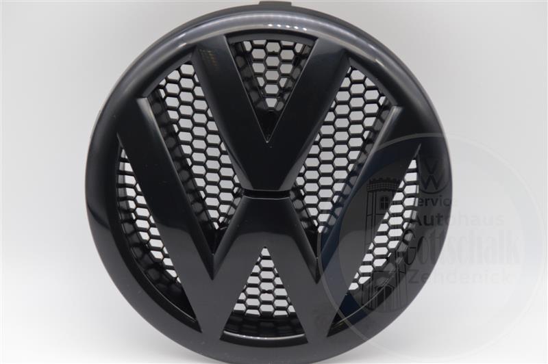 Original VW T5 Facelift T5 GP VW Emblem Kühlergrill Logo Blende schwarz 7E0853601D 041