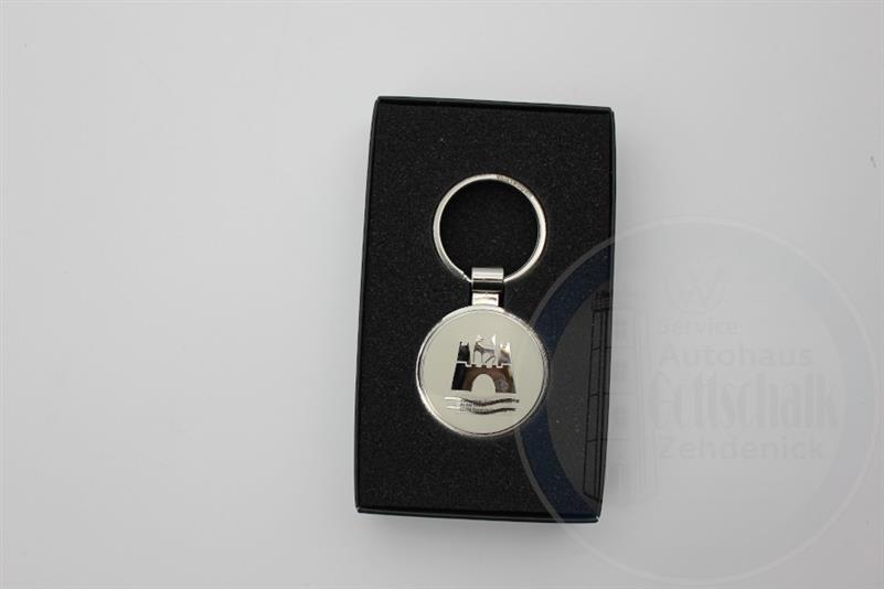 Original Schlüsselanhänger VW Klassik Kollektion Wolfsburg Cream 000087010AR 229