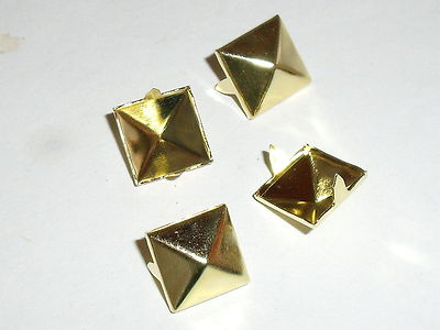 50 Stück Pyramidennieten Krallennieten Nieten 3,5x3,5 mm schwarz NEU rostfrei