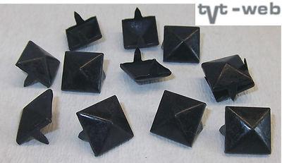 100 Krallenniete Pyramidennieten 5 x 5mm schwarz