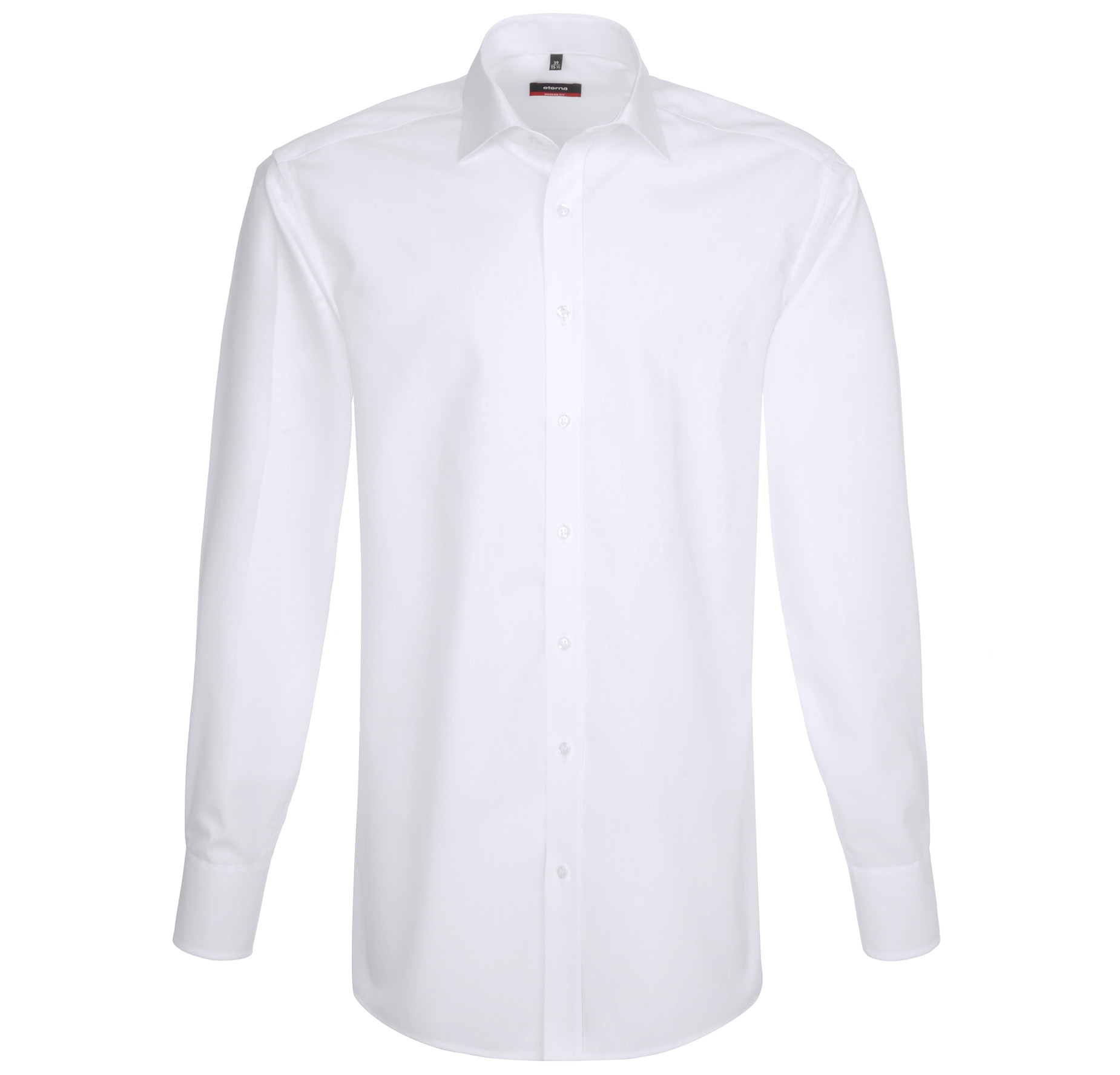 ETERNA Herren Langarm Hemd Modern Fit Uni Popeline weiß 1360.00.X187