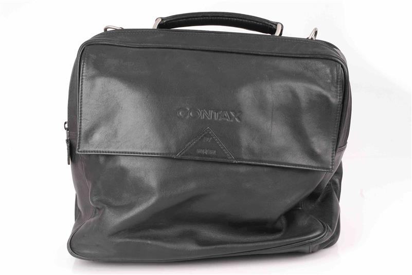 Contax-G1-G2-Goldpfeil-original-G-Ledertasche-Leather-bag-black-schwarz 縮圖 4