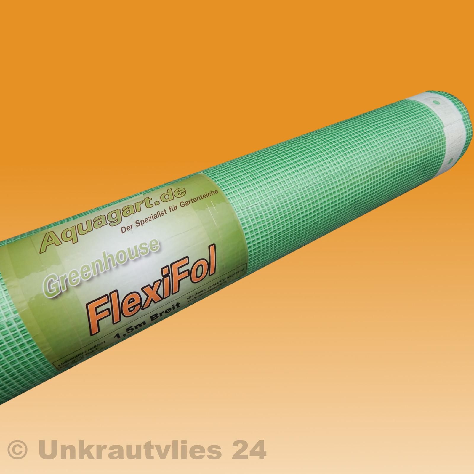 14m Gewächshausfolie Gitterfolie Frühbeetfolie Gartenfolie 250g 1,5m breit grün