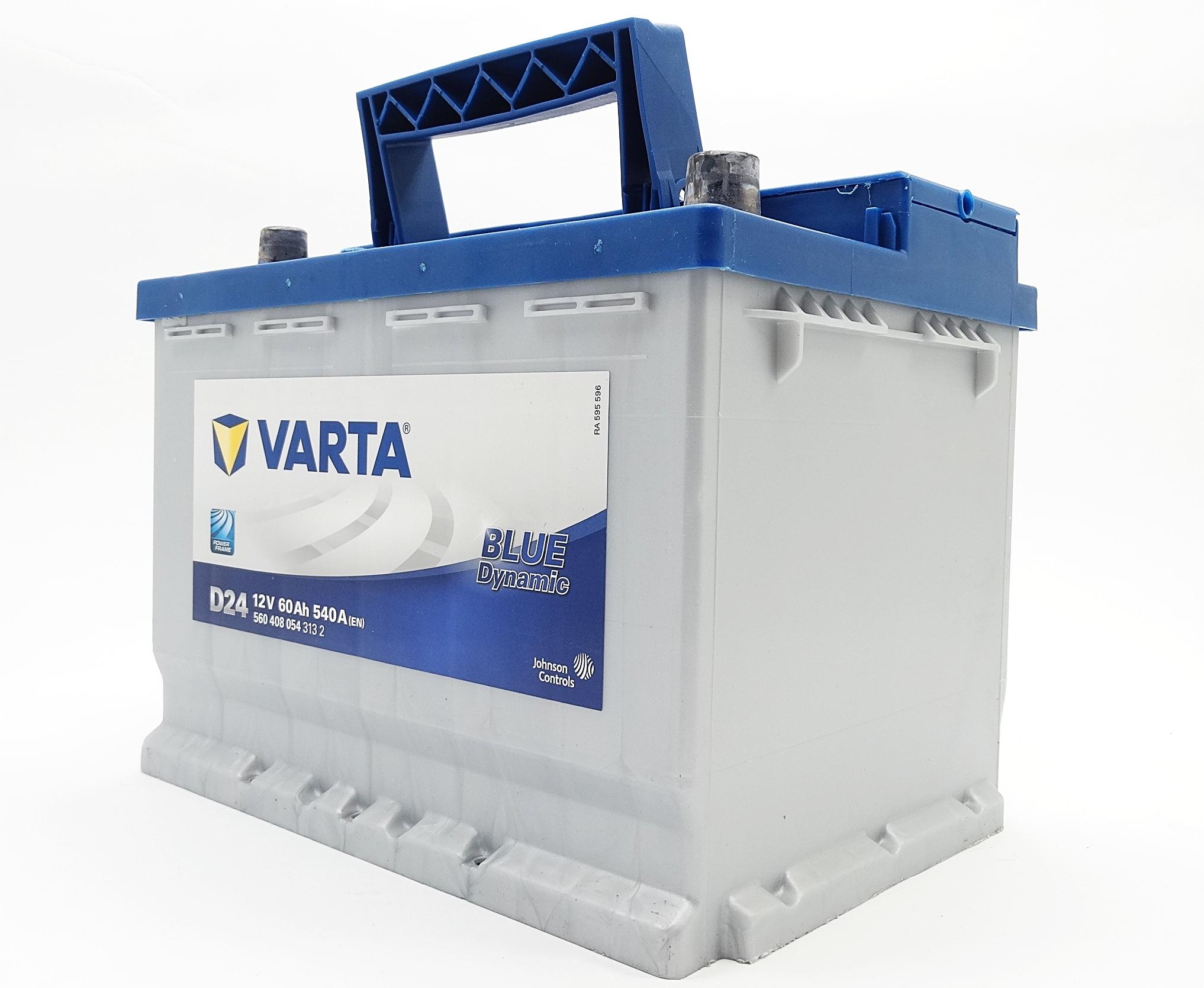 varta blue dynamic autobatterie d24 12v 60ah 540a starterbatterie 560408054 ebay. Black Bedroom Furniture Sets. Home Design Ideas