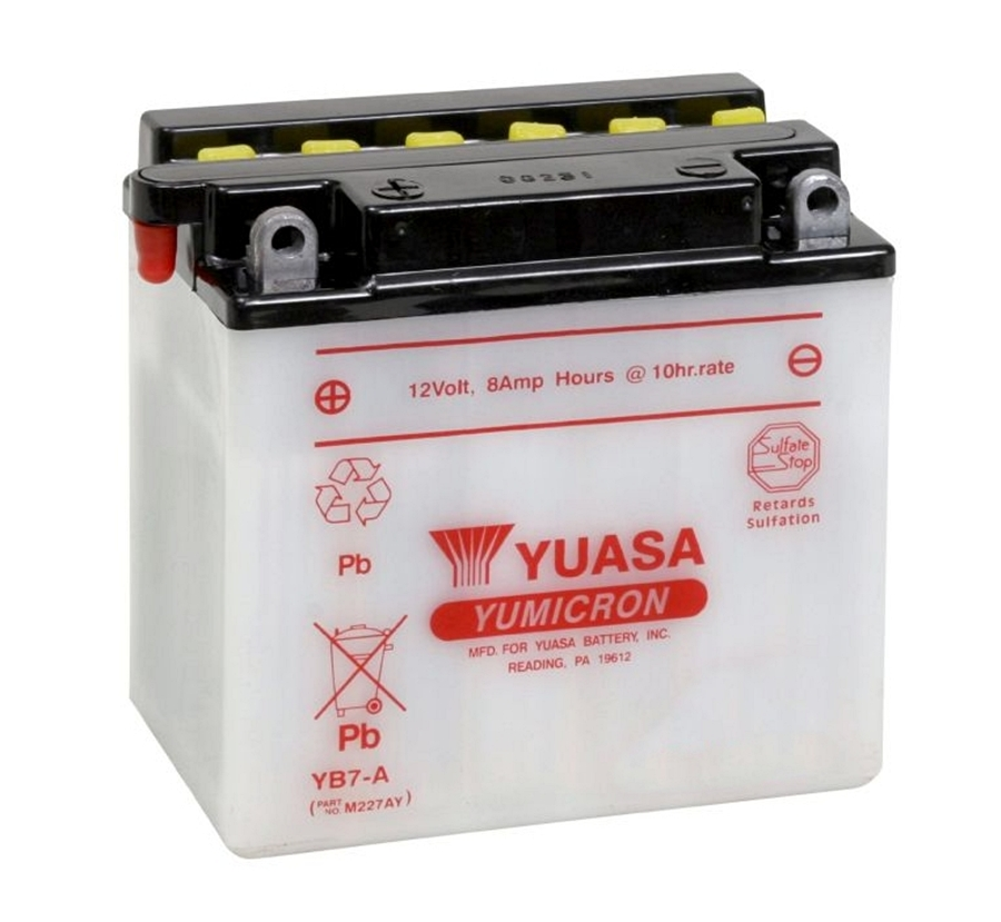 yuasa yb7 a batterie 12v 8ah motorrad roller yb7a peugeot. Black Bedroom Furniture Sets. Home Design Ideas
