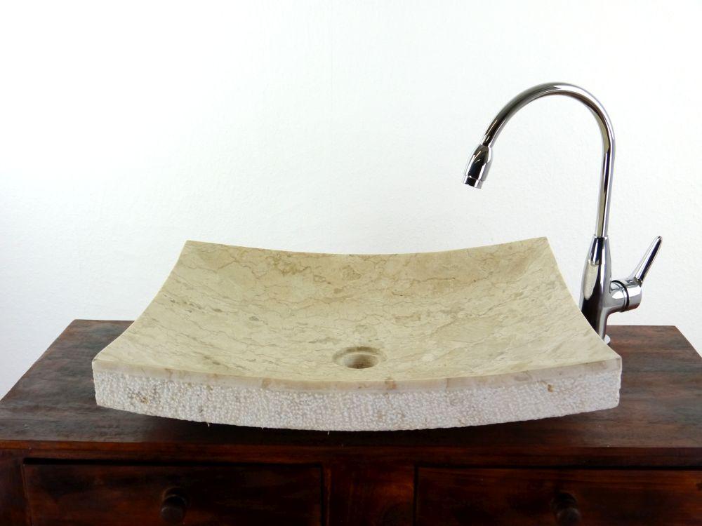 handwaschbecken aus bali marmor flach waschbecken waschschale aufsatzbecken ebay. Black Bedroom Furniture Sets. Home Design Ideas