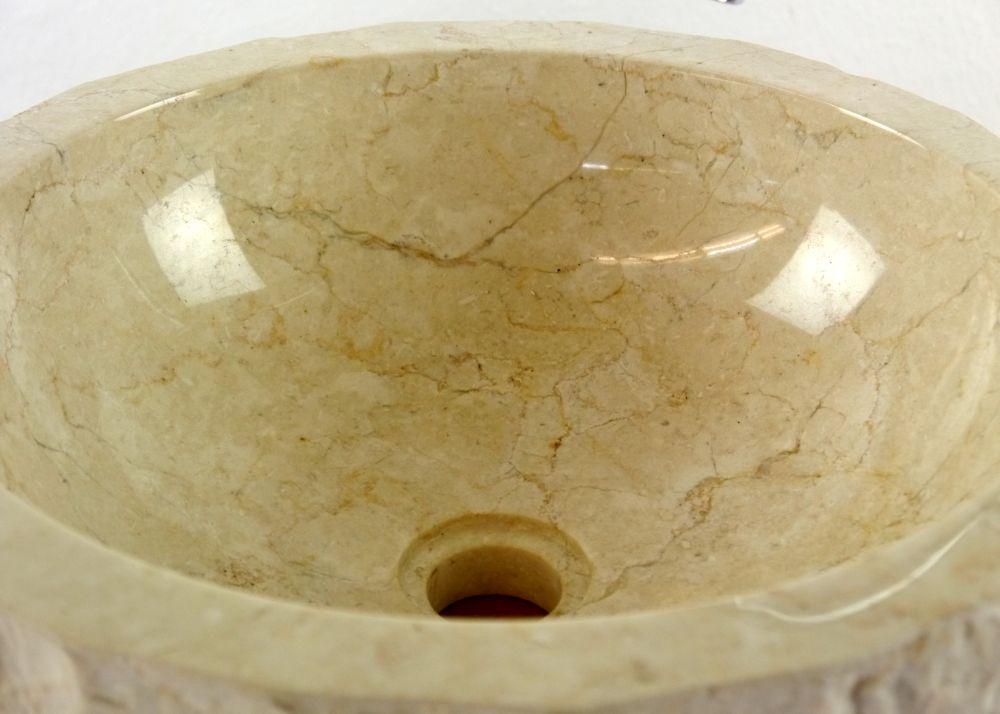 waschbecken marmor waschschale aufsatzbecken waschtisch handwaschbecken bali 4260550710101 ebay. Black Bedroom Furniture Sets. Home Design Ideas