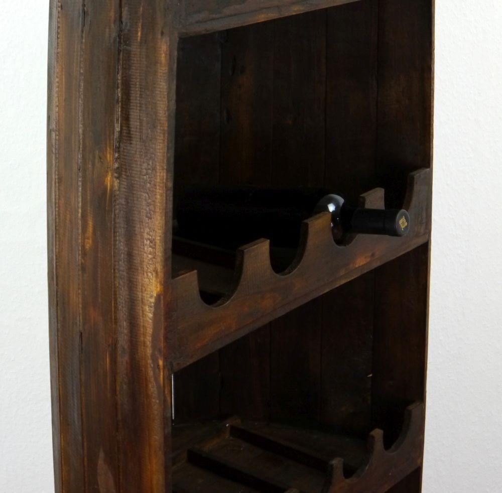 weinflaschenregal boot 195cm braun weinregal flaschenregal vinothek bali ebay. Black Bedroom Furniture Sets. Home Design Ideas