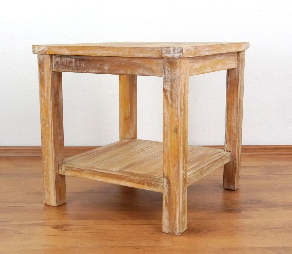 teakholztisch beistelltisch couchtisch dekoration blumentisch modern design 4260385125439. Black Bedroom Furniture Sets. Home Design Ideas