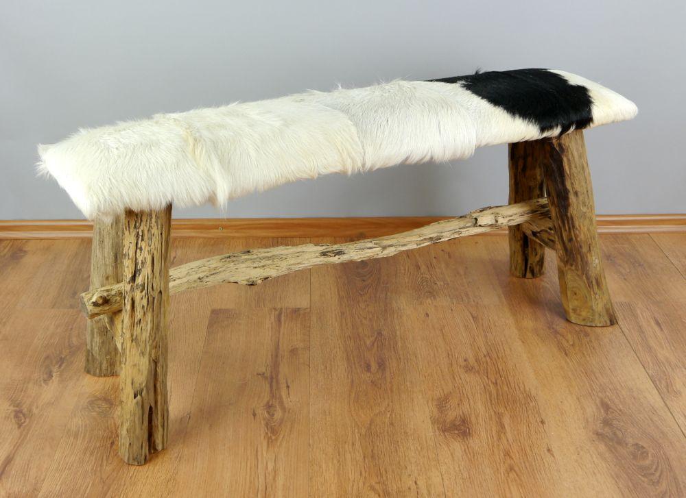 ziegenfell bank sitzbank holzbank sitzhocker. Black Bedroom Furniture Sets. Home Design Ideas