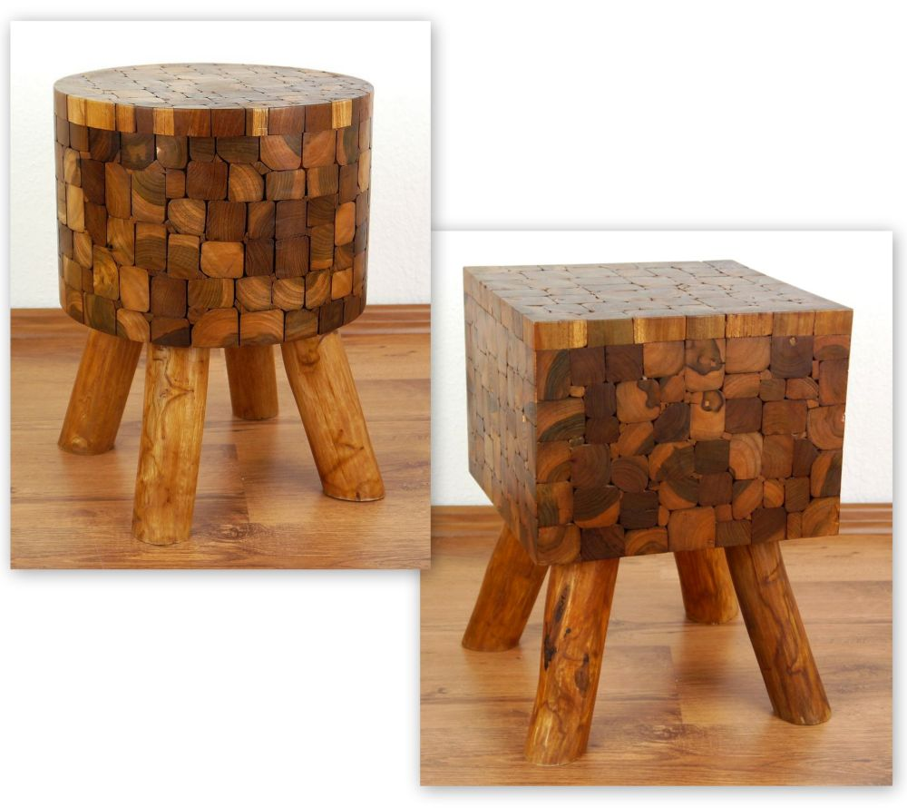 teak wood bedside table rustic design handmade furniture. Black Bedroom Furniture Sets. Home Design Ideas