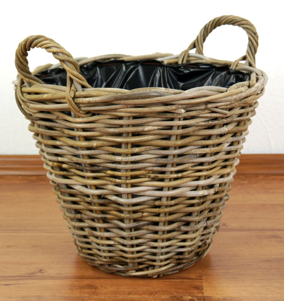 java rattankorb blumenkorb pflanzenkorb dekokorb aus rattan ebay. Black Bedroom Furniture Sets. Home Design Ideas