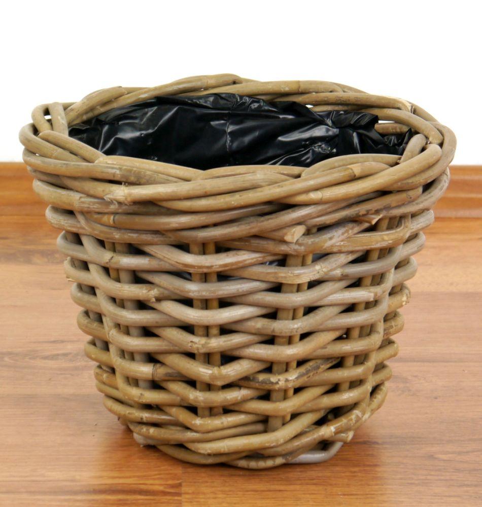 blumenschale blumentopf aus rattan dekokorb pflanzenkorb pflanzenschale java ebay. Black Bedroom Furniture Sets. Home Design Ideas