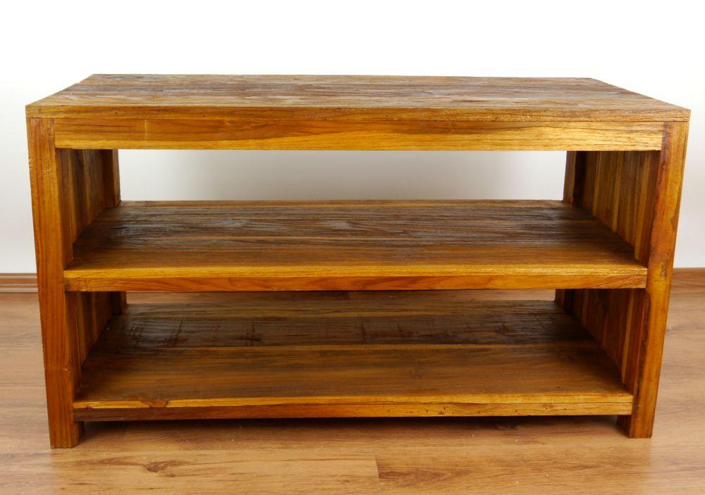 Teakholz sideboard aus java regal sitzbank tv hifi for Sideboard rustikal