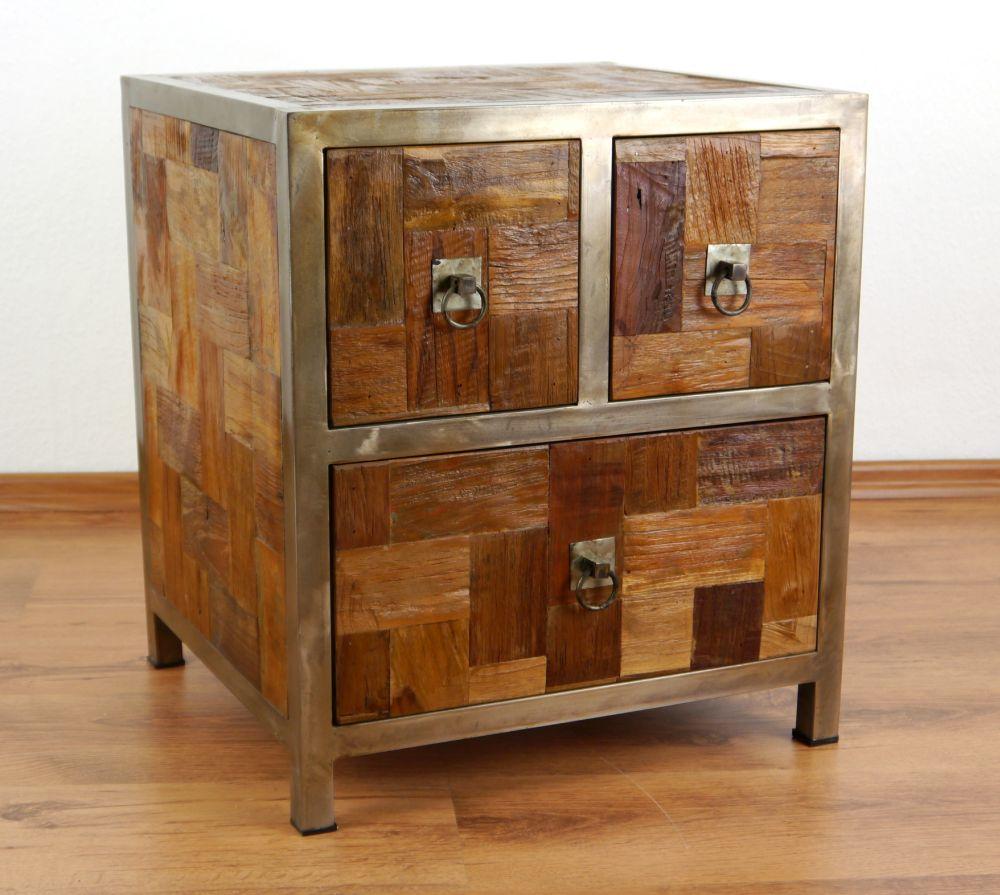 Teakholz alt recycelt eckschrank garderobenschrank telefontisch teak m bel ebay - Bootsholz mobel ...