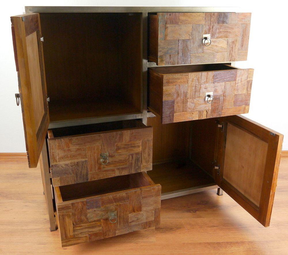 teakholz gro e kommode teakholzm bel schlafzimmer kinderzimmerkommode ebay. Black Bedroom Furniture Sets. Home Design Ideas