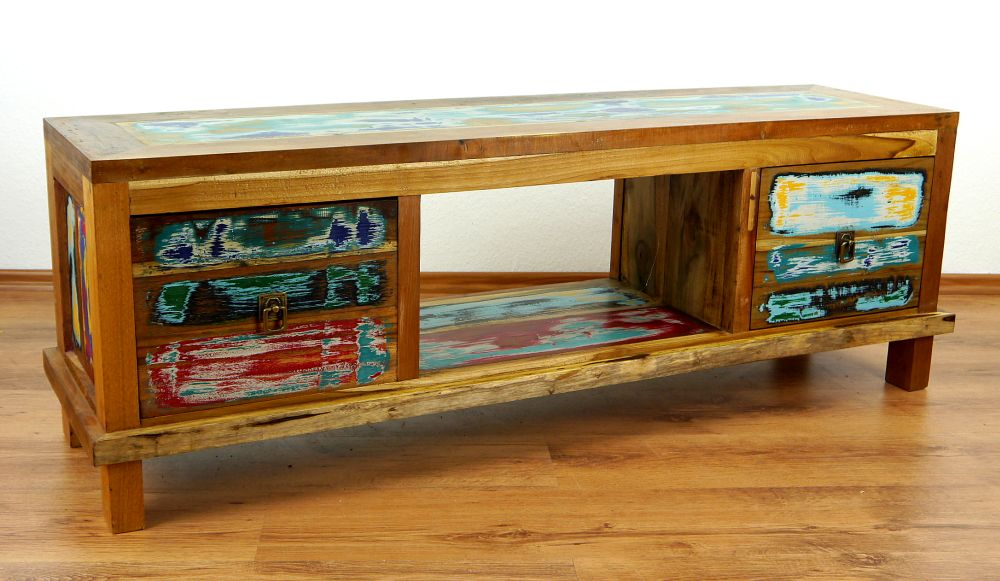 Java furniture coulorful reclaimed boat teakwood for Sideboard lowboard